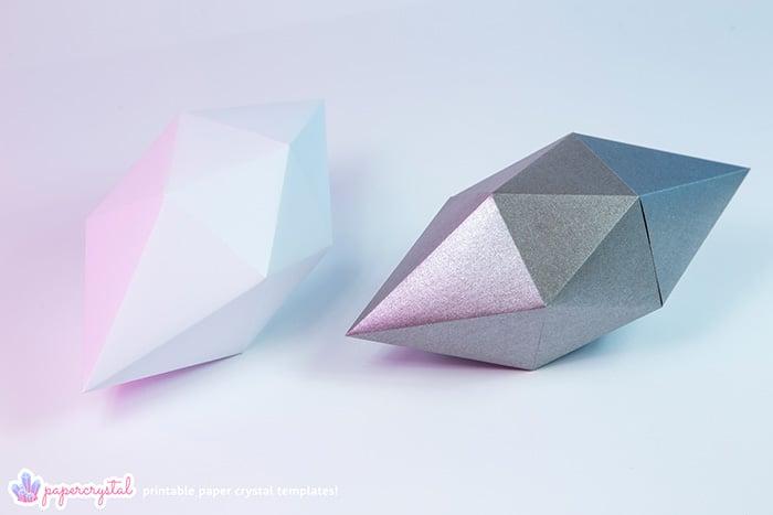 printable paper diamond gem crystal templates paper kawaii shop