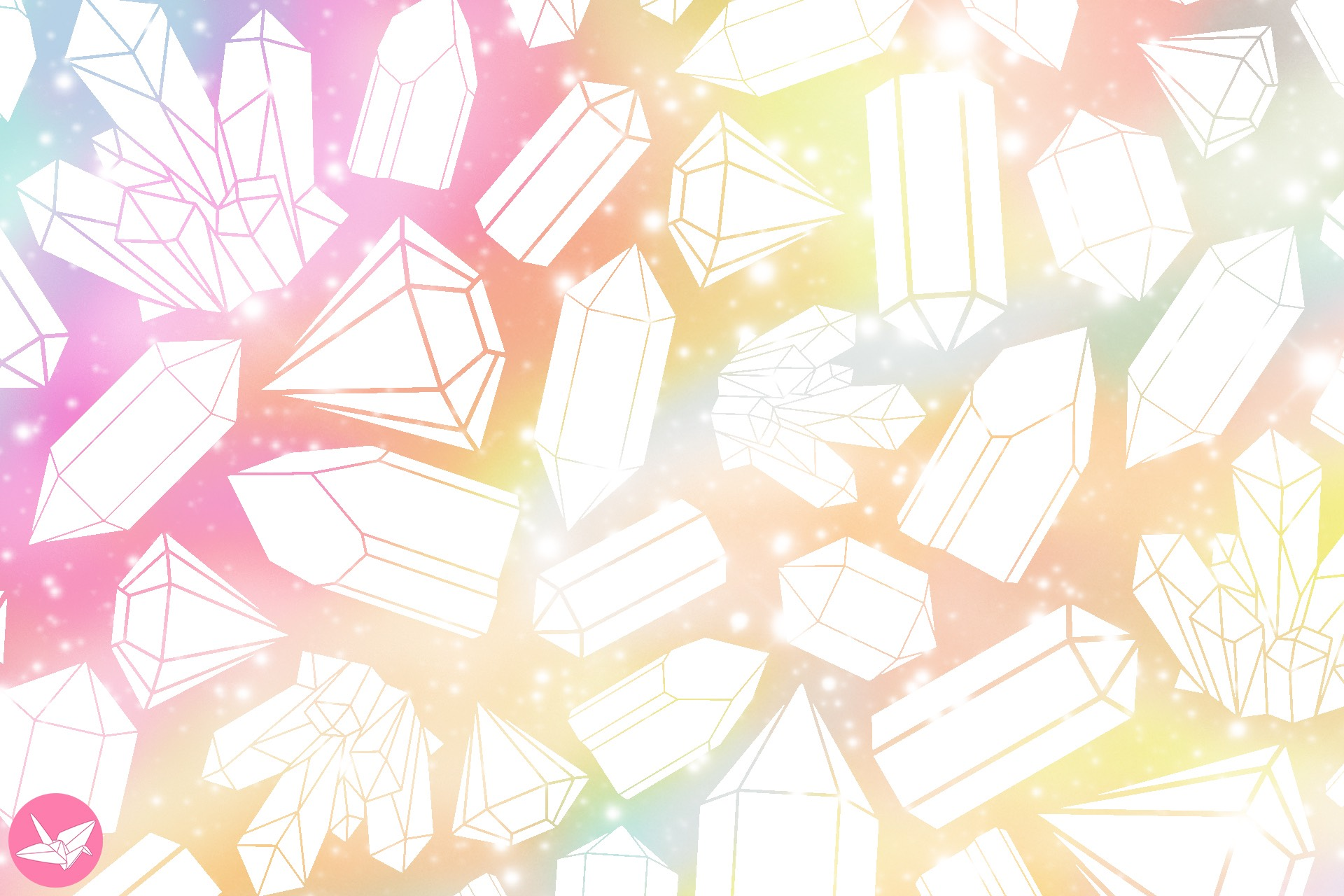 crystal galaxy printable origami paper