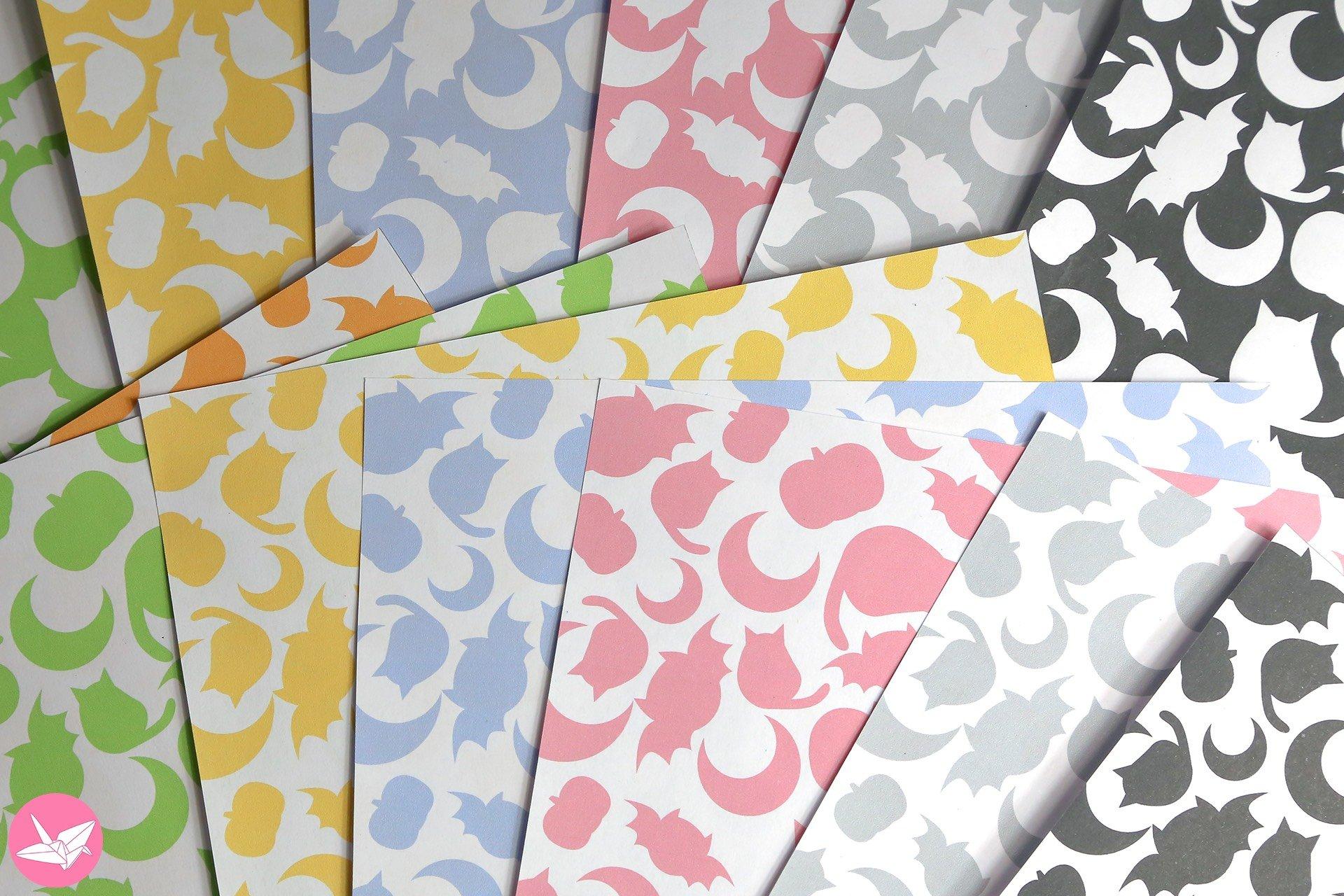 Cute Halloween Printable Origami Paper - Paper Kawaii Shop - photo#48