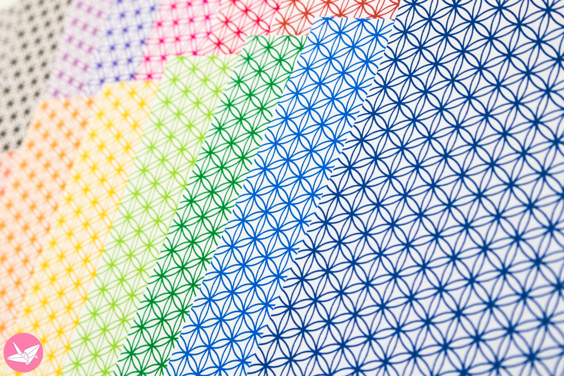 flower of life pattern papers - bright lines