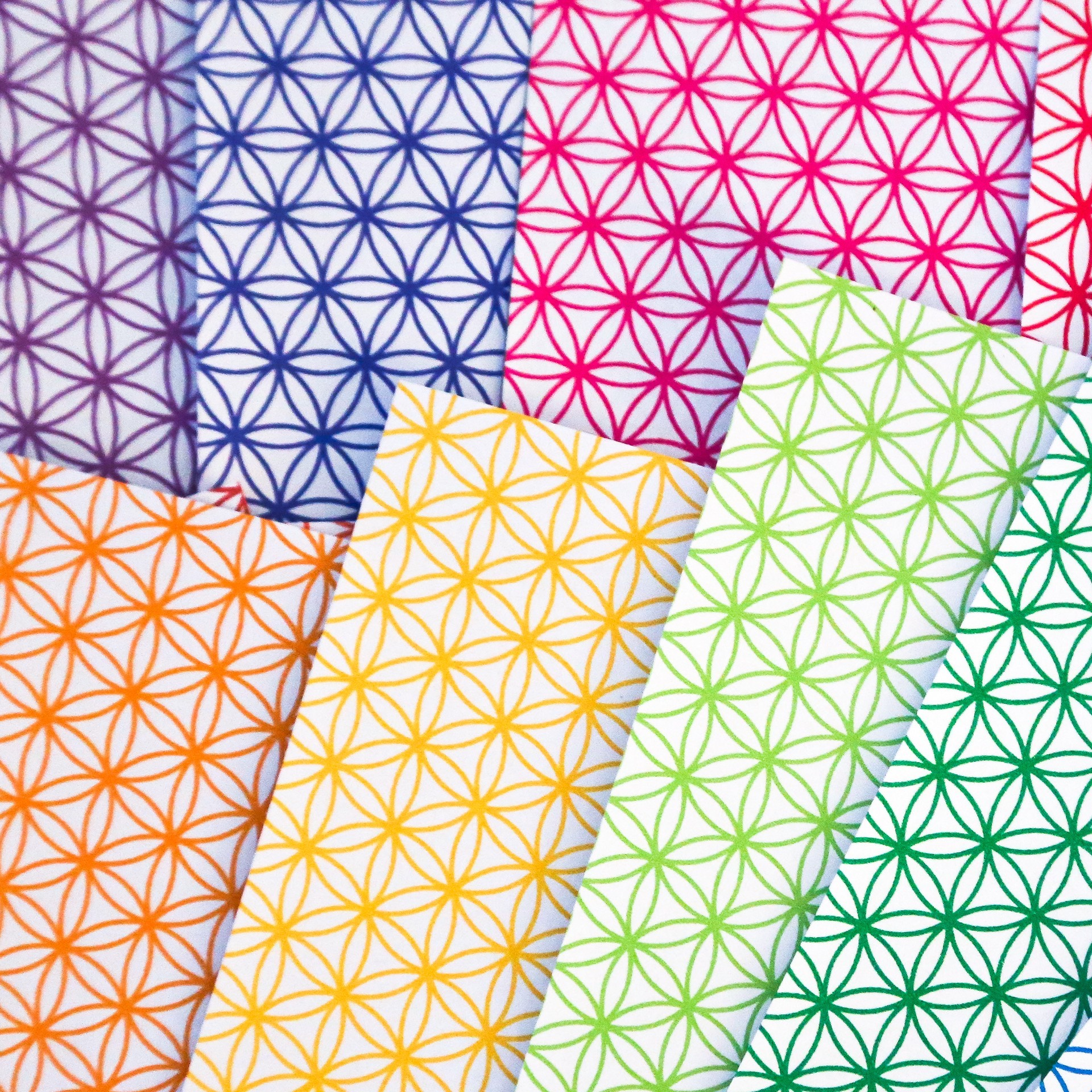 Flower Of Life Pattern Papers - Bright Lines - Paper ... - photo#18