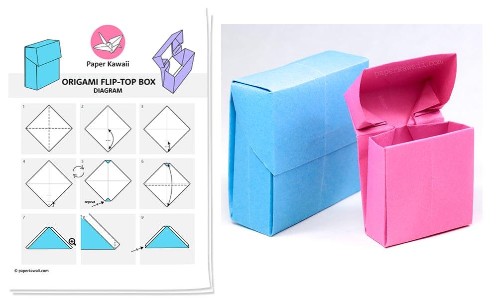 Swell Origami Flip Top Box Diagram Paper Kawaii Shop Wiring Digital Resources Honesemecshebarightsorg