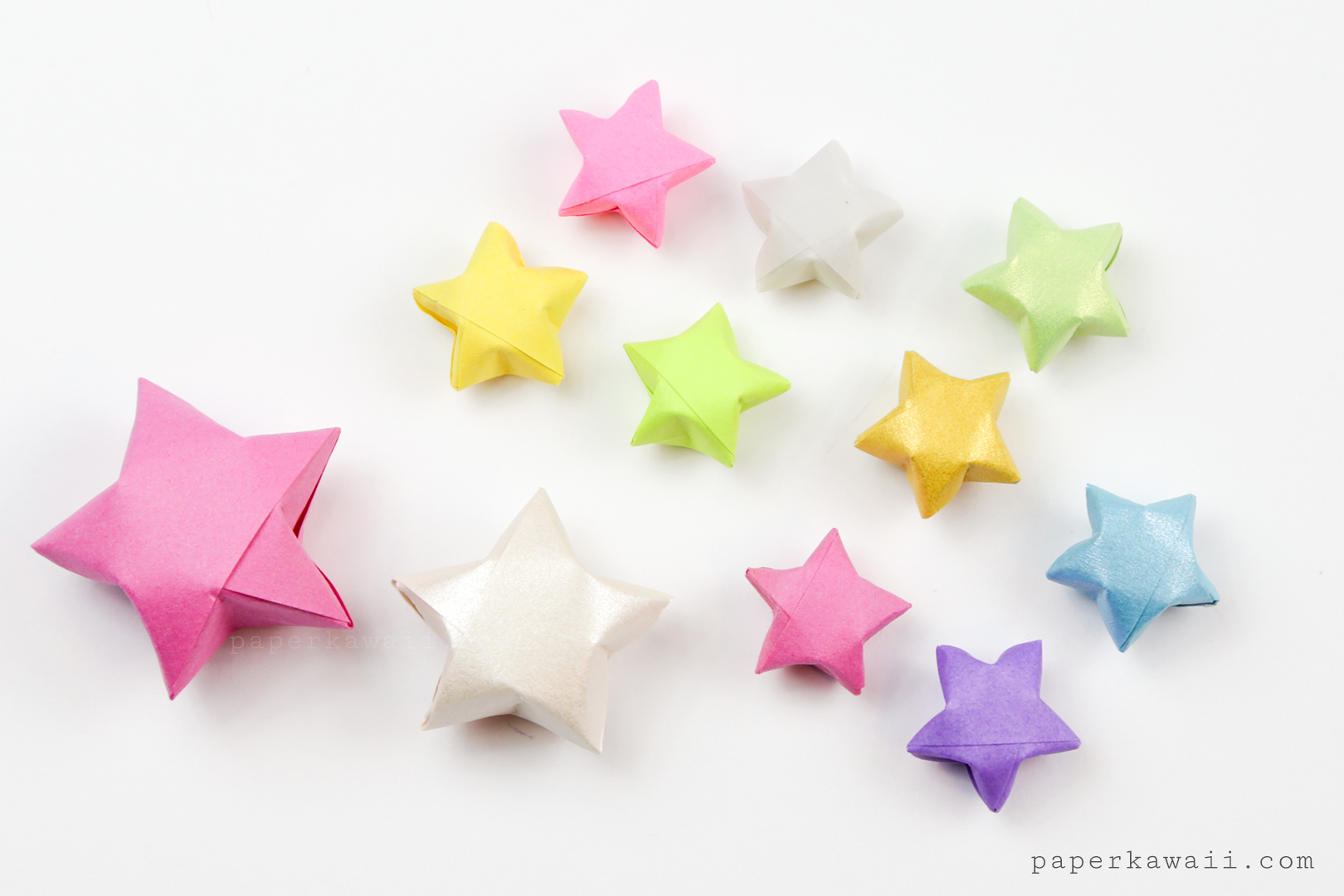 Origami Lucky Star Diagram - Paper Kawaii Shop - photo#46